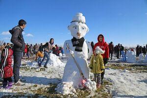 عکس/ جشنواره آدم برفی در اردبیل