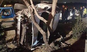 عکس/ واژگونی خودروسواری در بزرگراه شیخفضلالله
