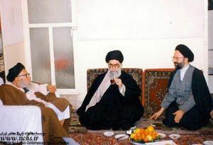 تصویر دیده نشده از رهبر انقلاب درکنار آیتالله بهاءالدینی
