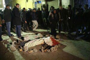 فیلم/ لحظه انفجار انتحاری در مصر