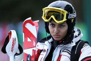 دختری که پهلوان اسکی ایران لقب گرفت