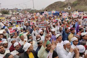 فیلم/ تظاهرات مردم هند علیه سفر بن سلمان