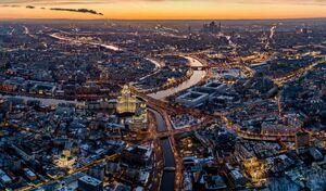 تصویر هوایی زیبا از مسکو