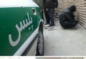 مرد سارق با پوشش زنانه در کرج دستگیر شد