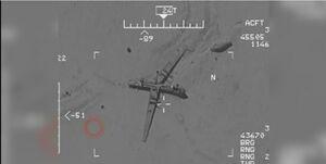 تسلط پهپاد سپاه بر هواپیمای آمریکایی+فیلم