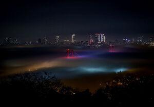 عکس/ مه غلیظ استانبول را فرا گرفت