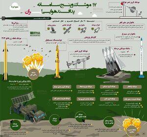 اینفوگرافیک/ پدافند و توانمندی موشکی ایران در 40 سال تحریم
