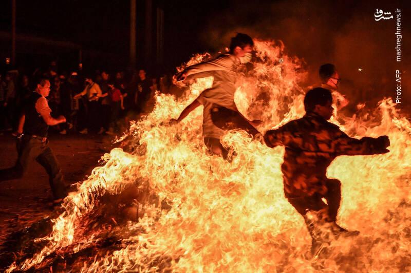 در حاشیه جشنواره فانوسها در جشن سال نو چینی