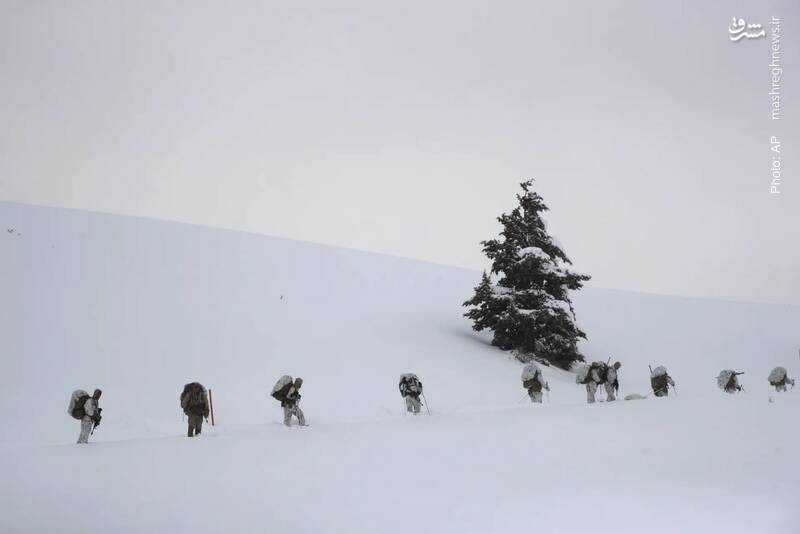 تمرین نظامی سربازان آمریکایی در کالیفرنیا