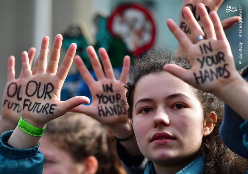 تظاهرات طرفداران محیط زیست در بروکسل