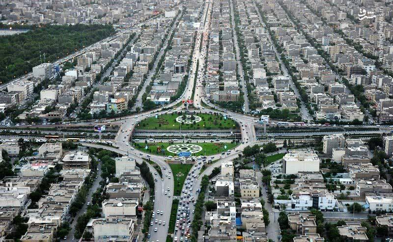تصویر هوایی از شهر مشهد