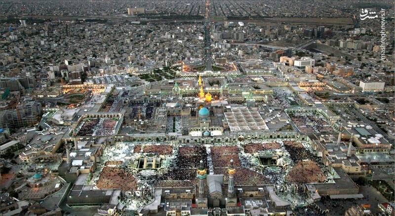 تصویر هوایی از حرم مطهر حضرت علیبن موسیالرضا (ع)