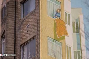 عکس/ سهم مادری از دیوارهای شهر