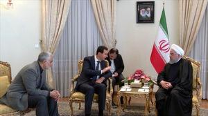 حاج قاسم در دیدار بشار اسد و روحانی