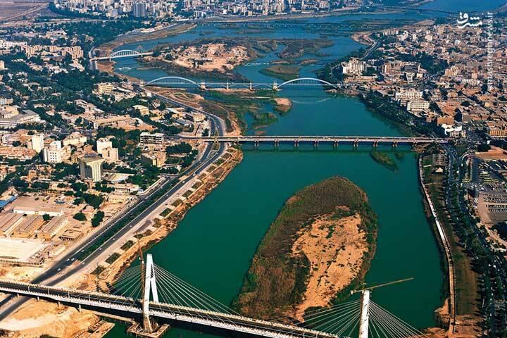تلماتو تصویر هوایی زیبا از اهواز دانلود رایگان نقشه اتوکد شهر اهواز dwg