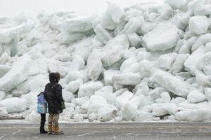 فیلم/ سونامی یخ در کانادا