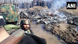 عکس/ سقوط بالگرد هندی در کشمیرهند
