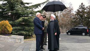 عکس/ استقبال ظریف و روحانی از نخست وزیر ارمنستان
