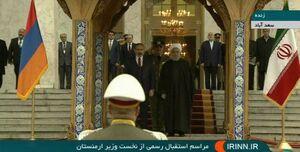 فیلم/ استقبال رسمی روحانی از نخست وزیر ارمنستان