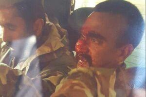 عکس/ خلبان اسیرشده هندی در پاکستان