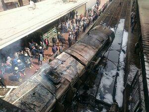 عکس/ آتشسوزی مرگبار در قاهره