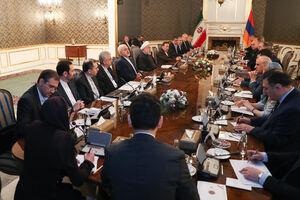 عکس/ نشست مشترک مقامات ایران و ارمنستان