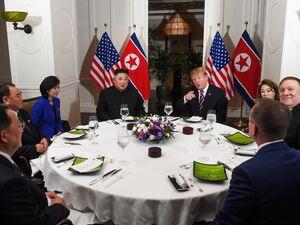 عکس/ شام کاری «اون» و «ترامپ»