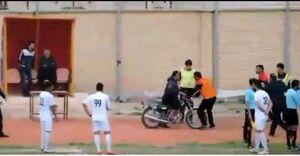 عکس/ جیمی جامپ موتورسوار در لیگ ایران!