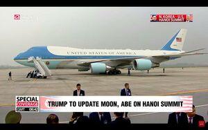 عکس/ اخلال در پرواز ترامپ