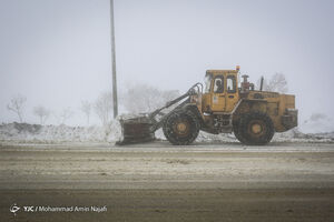 عکس/ بارش شدید برف در همدان