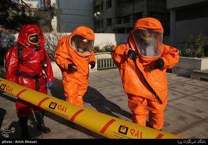 مانور عملیاتی آتش نشانان در تهران