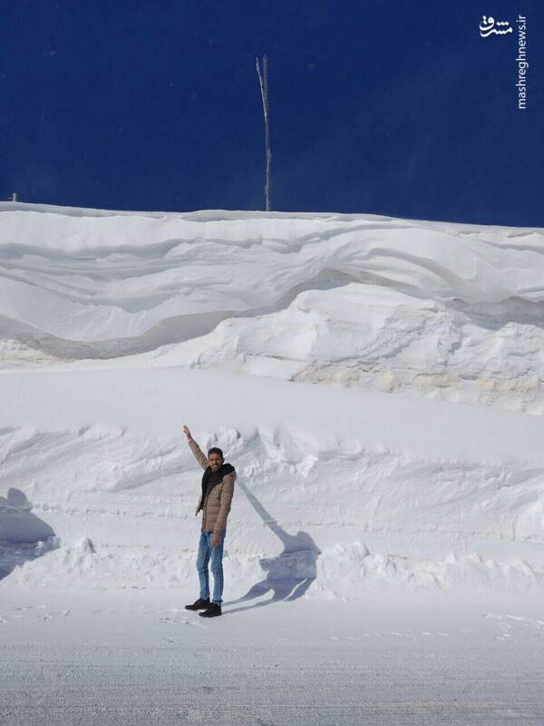 ارتفاع برف امروز در گردنه چری استان چهارمحال و بختیاری.