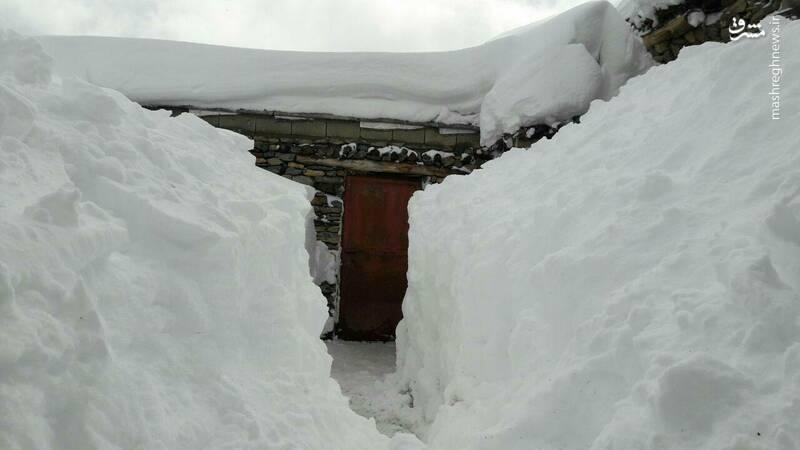 ایجاد تونل برفی در دیواندره