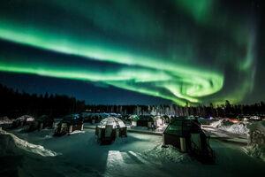 عکس/  شفق قطبی در آسمان فنلاند