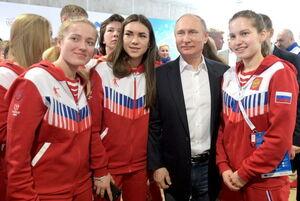 عکس/ حضور پوتین در رقابتهای یونیورسیاد سیبری