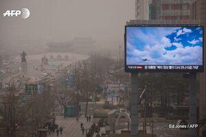 عکس/ آلودگی شدید هوا در سئول