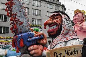 فیلم/ ترامپ و بن سلمان با اره خونین در آلمان!