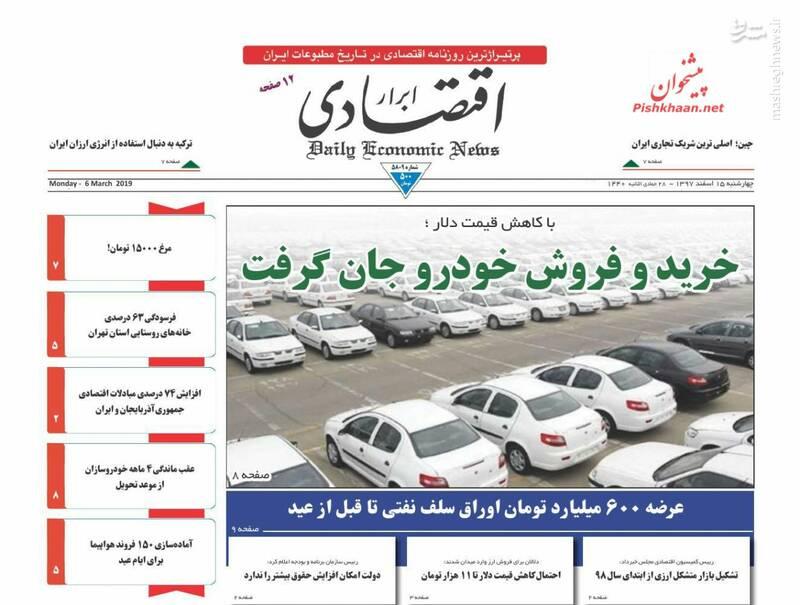 ابرار اقتصادی: خرید و فروش خودرو جان گرفت