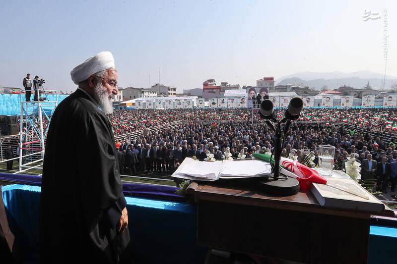 Image result for روحانی در جمع مردم لاهیجان: