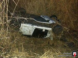 عکس/ واژگونی مرگبار یک خودرو در جاده ورامین
