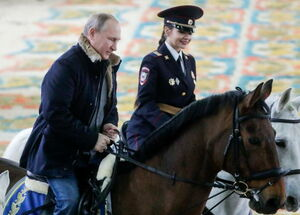عکس/ اسب سواری پوتین