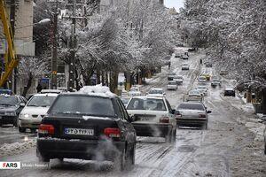 عکس/ بارش سنگین برف در کرمانشاه