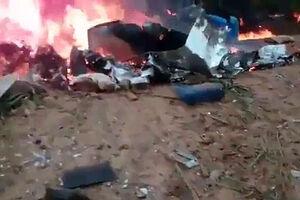 فیلم/ سوختن هواپیما پس از سقوط!