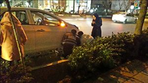 کمک دو مامور پلیس به خانم راننده +عکس