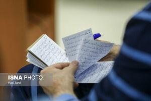 عکس/ دستنوشته حسین هدایتی در دادگاه