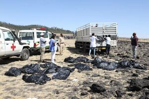 فیلم/ محل سقوط هواپیمای بوئینگ ۷۳۷ اتیوپی