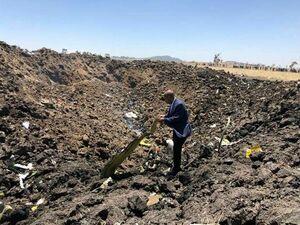 عکس/ سقوط هواپیمای مسافربری اتیوپی