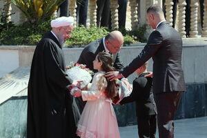 فیلم/ استقبال از روحانی در کاخ پیشین صدام