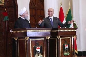 نشست مشترک با رئیس جمهور عراق