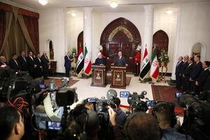 عکس/ نشست مشترک روحانی با رئیس جمهور عراق